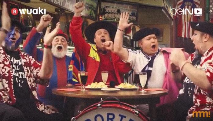 Anuncio con los aficionados del fútbol español para Wuaki TV y Bein. Cineyfutbol.com