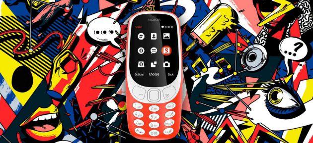 Regreso del mítico Nokia 3310 en el Mobile World Congress 2017, el mayor evento sobre telefonía móvil del mundo, que se celebra en Barcelona.